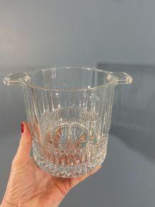 Seau à glace en verre vintage
