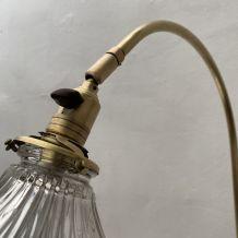 ANCIENNE LAMPE APPLIQUE COL DE CYGNE OMI XXL