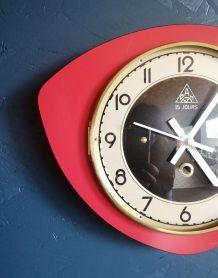 """Horloge vintage, pendule murale """"15 Jours Rouge et Noir"""""""