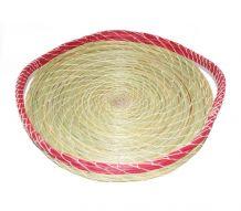 plateau fait main en fibres naturelles