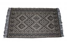 Tapis kilim fait main en laine gris