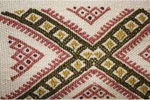 Tapis kilim fait main en soie couleur beige