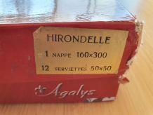Grande nappe ivoire 160 x 300 cm et 12 serviettes Agalys mod