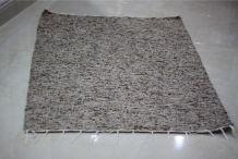Tapis kilim fait main en laine chiné marron