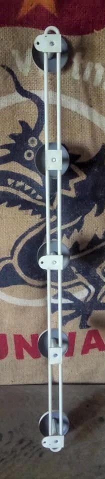 Porte manteau métal - 5 patères  - Années 50/60