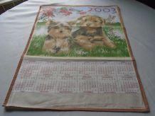 Torchon calendrier 2003