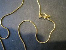 chaine récente métal dorée 60 cm