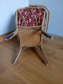 Travailleuse panier à tricot en osier des années 60