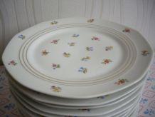 lot de 12 assiettes porcelaine de Limoges