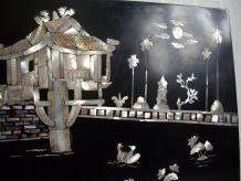 Cadre de style japonais avec nacre