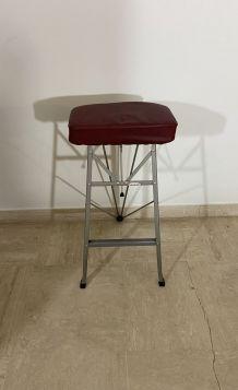 Tabouret pliant industriel Libellule vintage années 50
