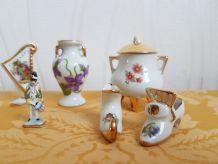LOT Minatures en porcelaine de Limoges