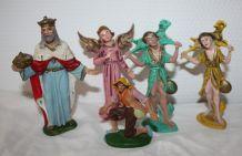 Crèche santons Vintage Italie Plastique Coloris bien Kitsch