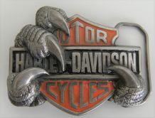 Boucle ceinture Harley Davidson vintage 1991 serre d'aigle