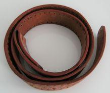 Ceinture cuir véritable vintage marque JG Mexico biker