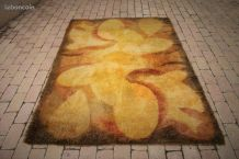 tapis  laine  DESSO hollande   70s moderniste pop art retro