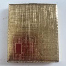 Porte-cigarettes vintage 1960 doré boîte Allemagne - 9 x 7,5