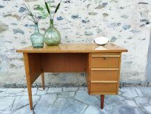 Bureau vintage chêne