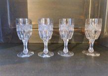 4 Verres cristal à liqueur