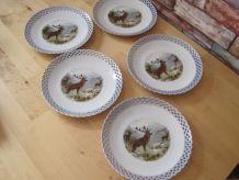 5 Assiettes a desserts en porcelaine de Bavaria
