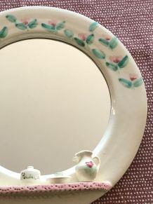 miroir vintage en porcelaine