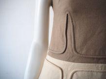 Robe trapèze Mod Swinging London pure laine vintage 60's