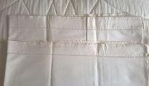 2 draps anciens pour lit 1 personne en lin et coton