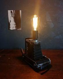 """Lampe vintage, lampe industrielle """"Sépia"""""""