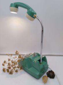 Lampe telephone/lampe industrielle/detournement d'objet