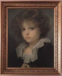 Reproduction Portrait enfant-Cadre Bois doré