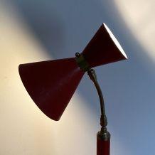 Lampe cocotte Diabolo rouge. 1950.