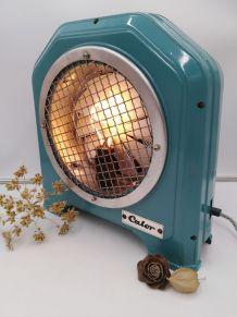 Lampe radiateur calor/lampe industrielle/detournement d'obje