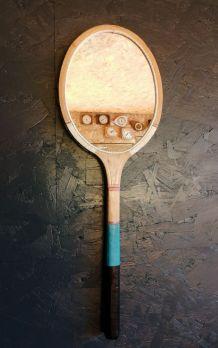 "Miroir, raquette miroir, raquette tennis - ""Blanche Bleue"""