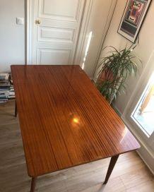 Table vintage bois extensible années 60's