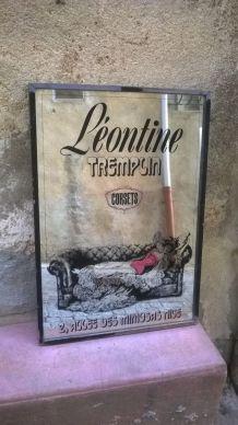 """Cadre miroir publicitaire """"Léontine"""""""