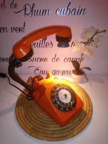 LAMPE À POSER RÉCUP' TÉLÉPHONE VINTAGE'80