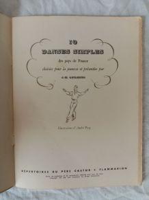 Livre Dix danses simples des Pays de France...