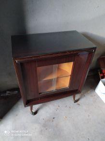 Rare meuble bar a rotation année 60-70