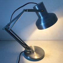 Lampe vintage 1960 d'architecte Aluminor acier brossé - 35 c