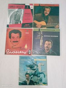 5 disques vinyls Geroges Brassens