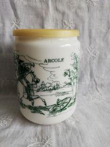 Pot opaline dessin bataille d'Arcole