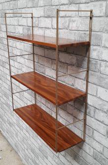 etagere string metal faux bois