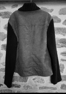 Veste femme en jean noir