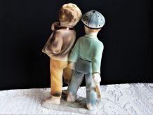 Statue porcelaine, figurine porcelaine enfants, sculpture.