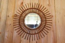 Miroir soleil rotin 68.5 diamètre