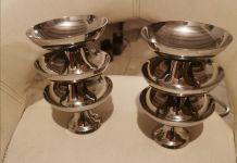 Coupes en métal argenté neuf