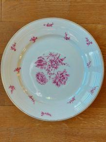 Plat ancien porcelaine B.F + 1 assiette ancienne- Années 50