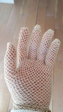 Paire de gant en crochet fait main