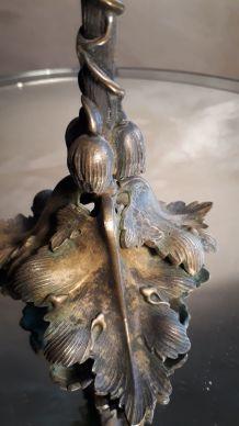 bougeoir art nouveau bronze  1900  ,  24x13cm   typique de c