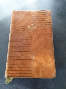 Ancien Missel Français en cuir de 1957 - livre de prières
